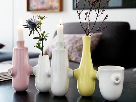 Fiducia Vasen und Kerzenständer