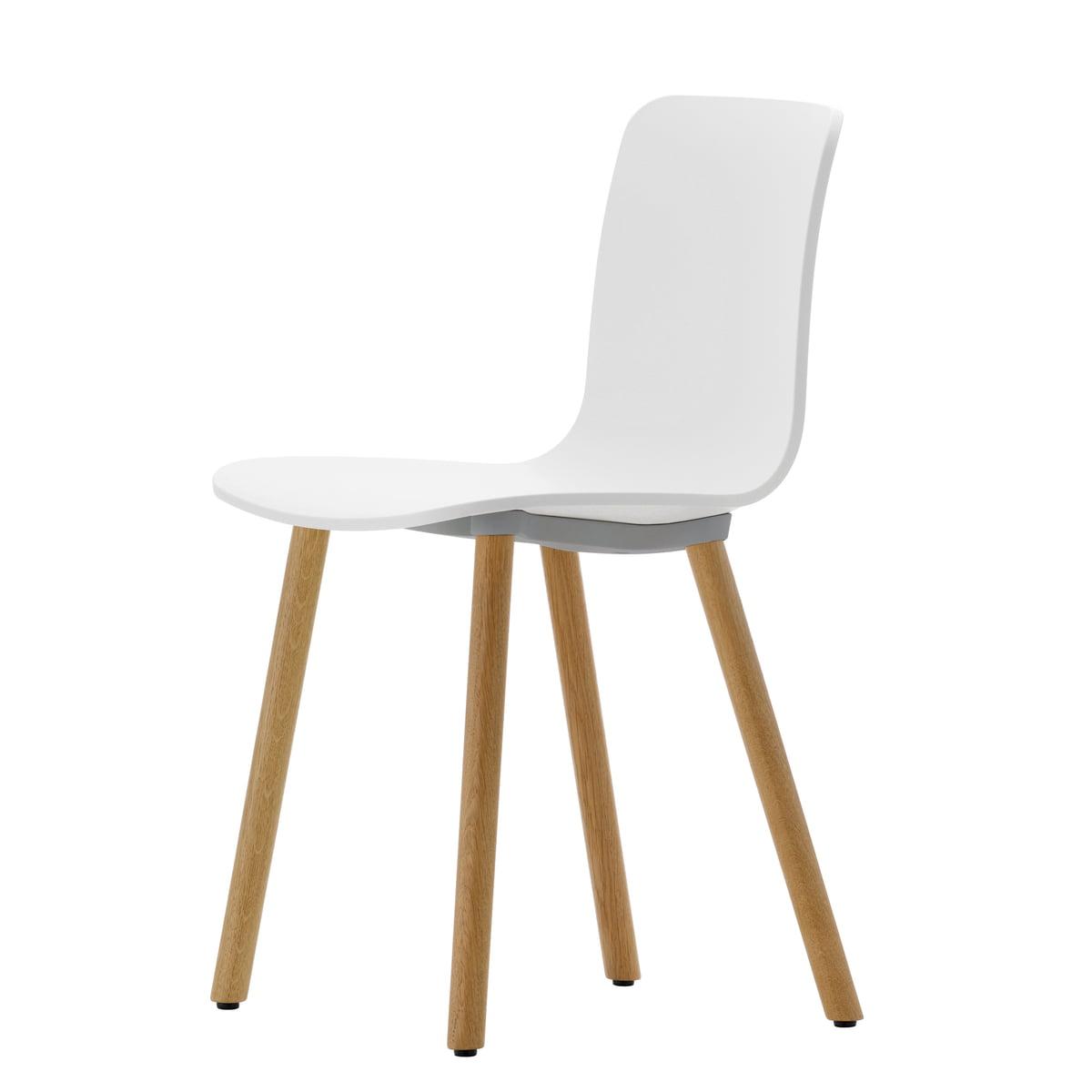 Inspirierend Weisse Stühle Ideen Von Hal Wood Stuhl Von Vitra Aus Heller