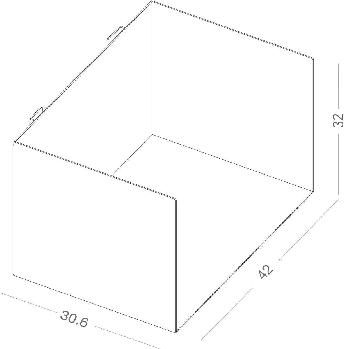Connox Wohndesign: Linea1 C Ordnerregal