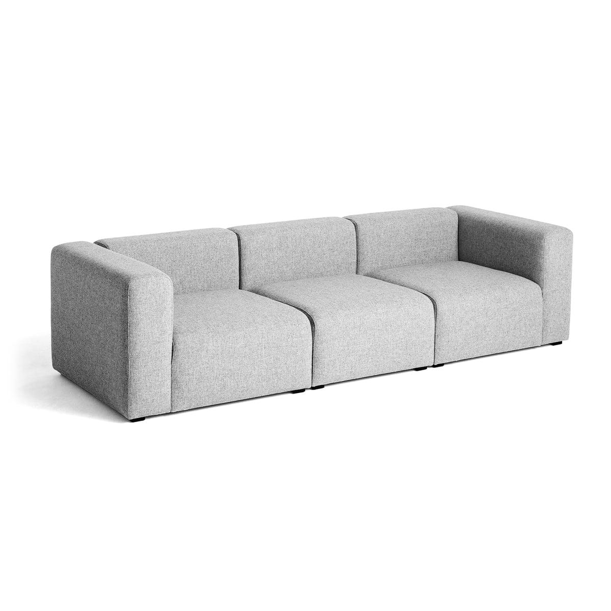 Mags Sofa 3 Sitzer, Kombination 1 Von Hay In Grau (Hallingdal 130)