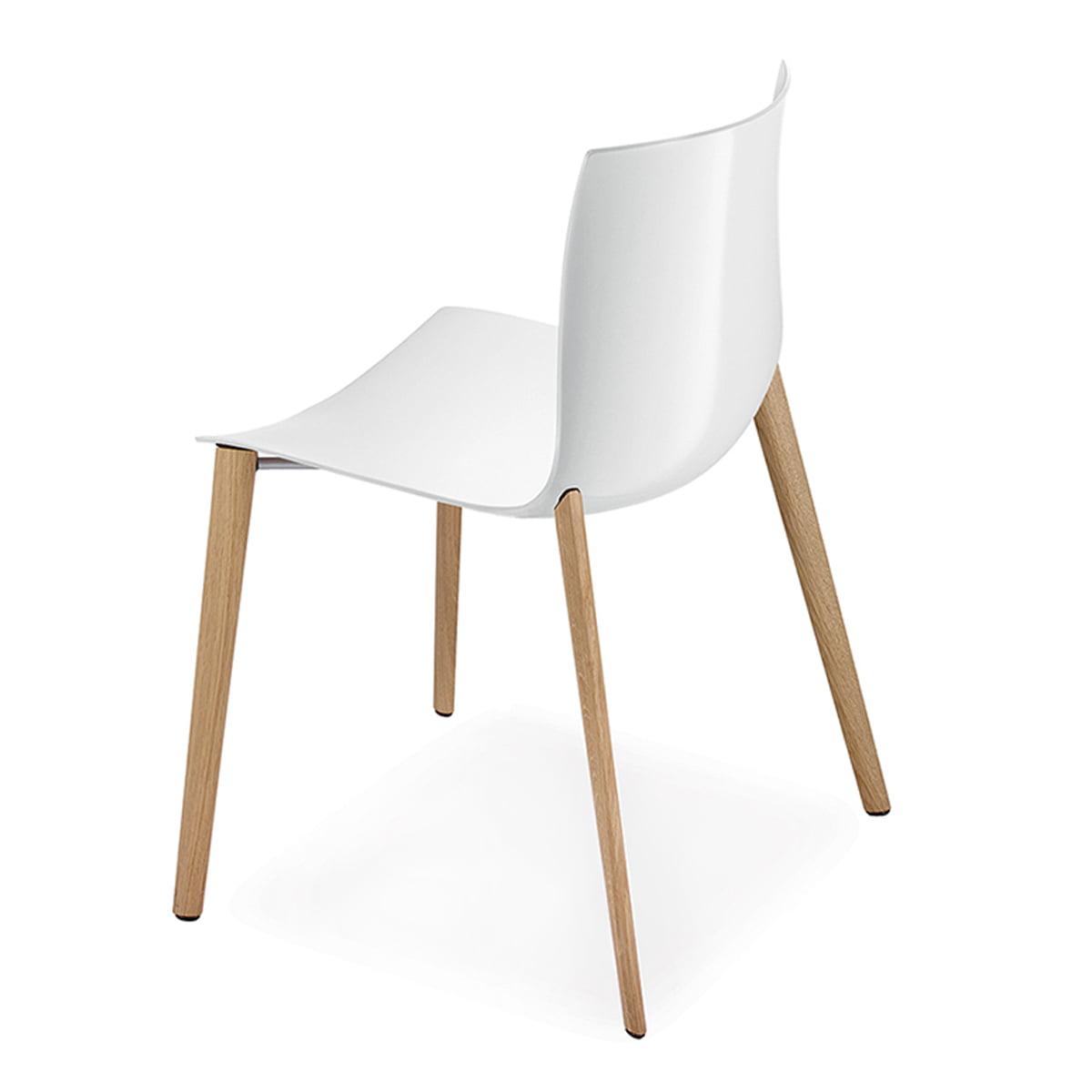 catifa 46 stuhl holz vierfussgestell von arper. Black Bedroom Furniture Sets. Home Design Ideas