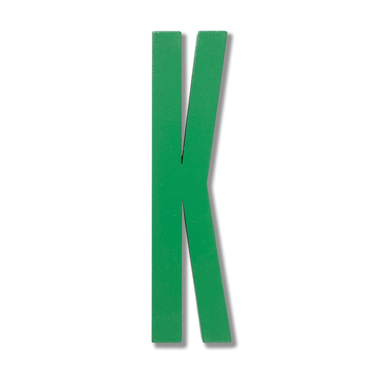 Design Letters   Wooden Letters Indoor K, Grün