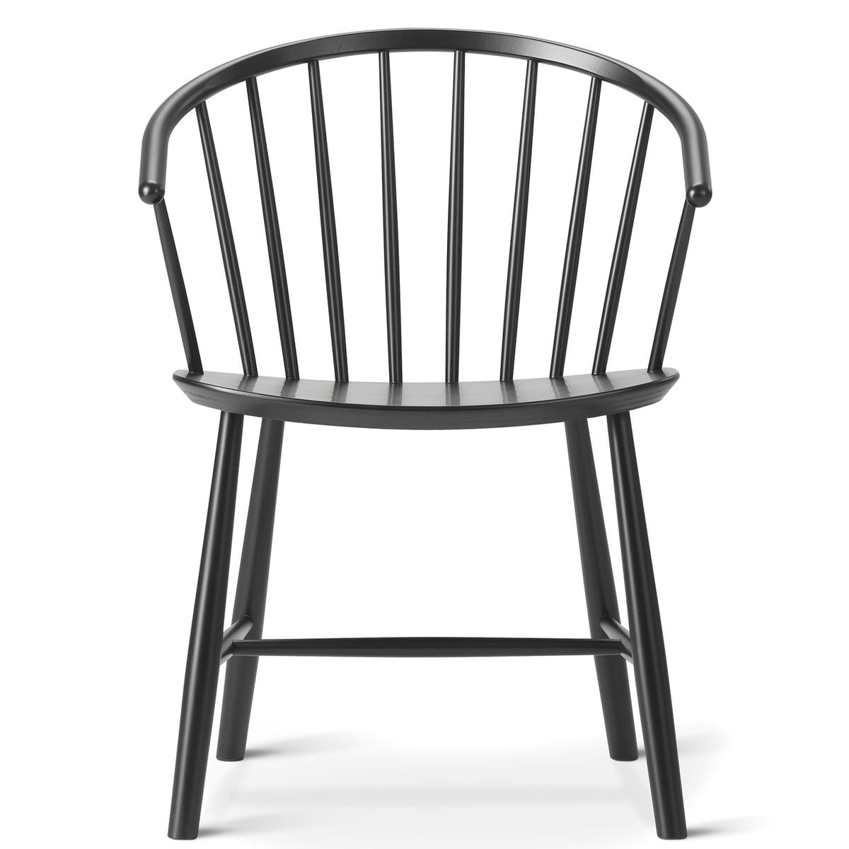 J64 Stuhl Von Fredericia Aus Buche In Schwarz