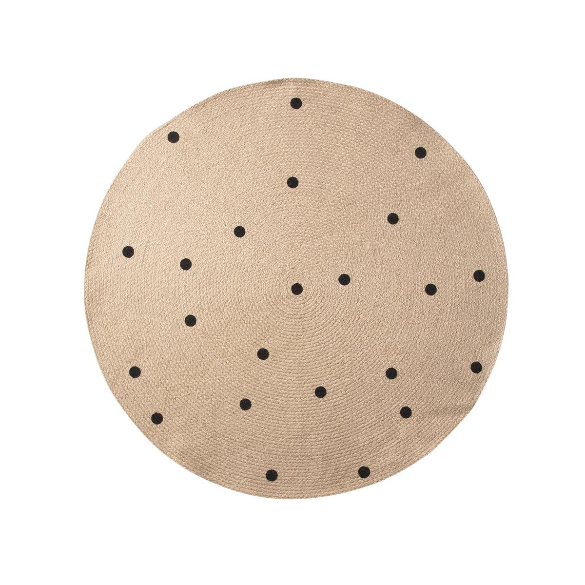 Black Dots Jute Carpet Von Ferm Living Kaufen