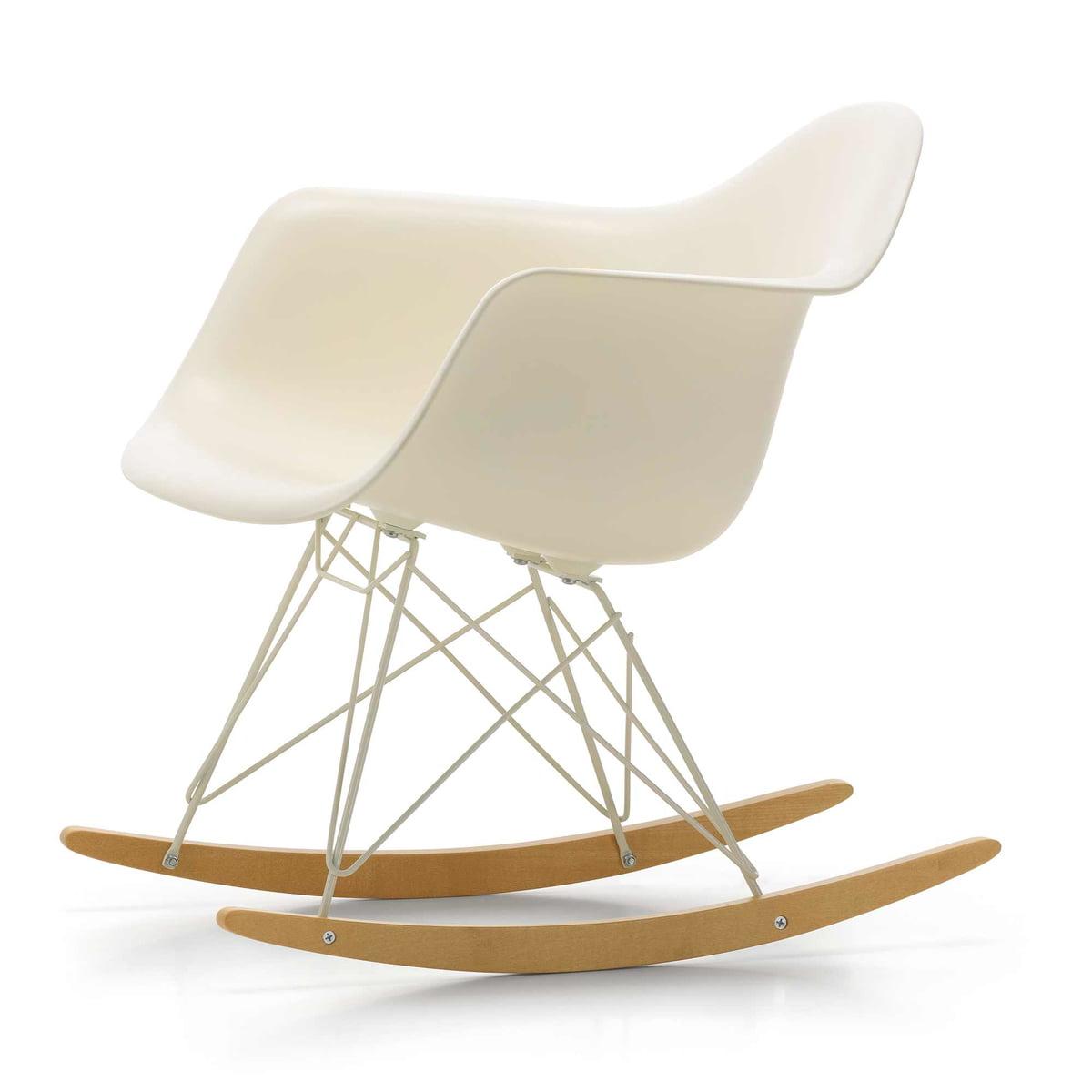 Elegant Vitra   Eames Plastic Armchair RAR, Ahorn Gelblich / Drahtuntergestell  Elfenbein, Cremeweiß (Limited