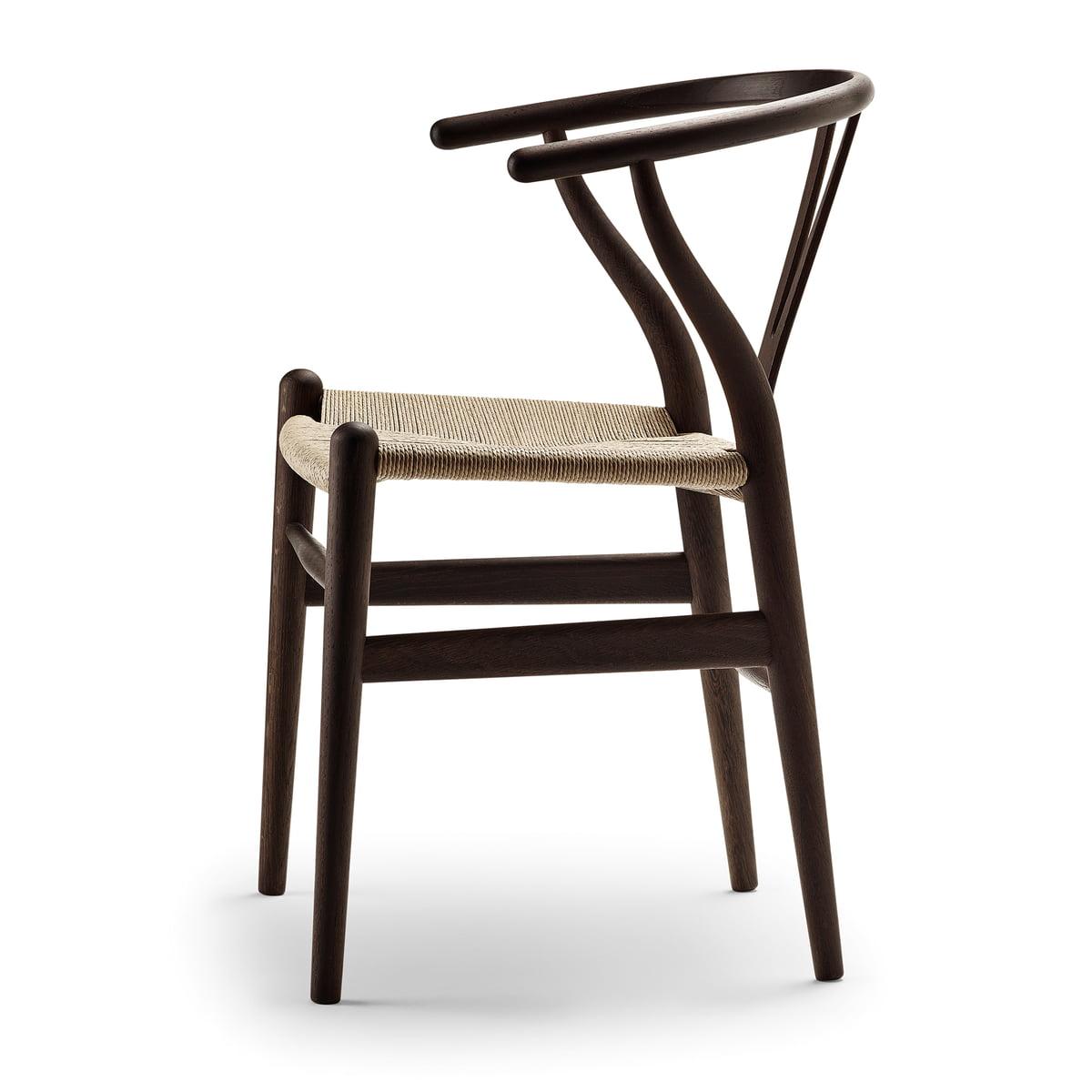 CH 24 Ancient Oak Stuhl Von Der Seite