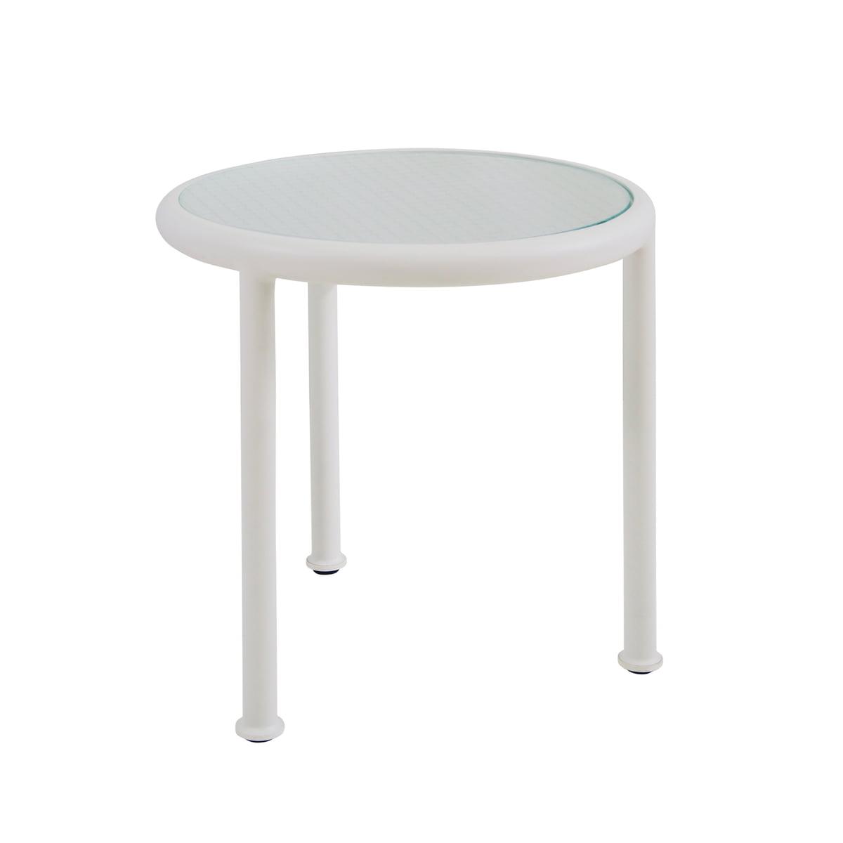 Tisch Rund 50 Cm.Emu Dock Tisch Rund H 50 ø 48 Cm Weiss Glas Gerastert