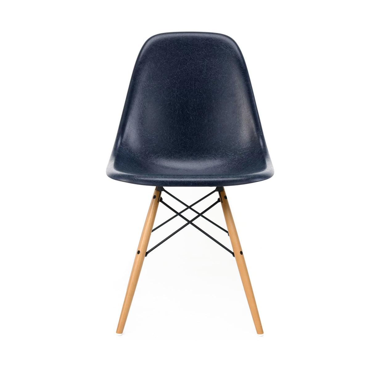 Gelblich Vitra Weiss Fiberglass Side DswAhorn Eames Chair Parchmentfilzgleiter cAjL354RqS