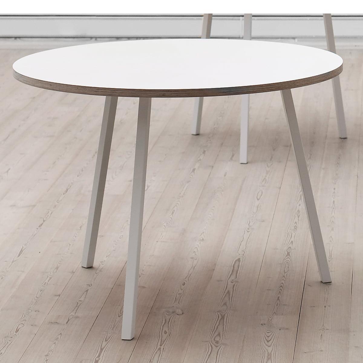 loop stand tisch rund von hay bei. Black Bedroom Furniture Sets. Home Design Ideas