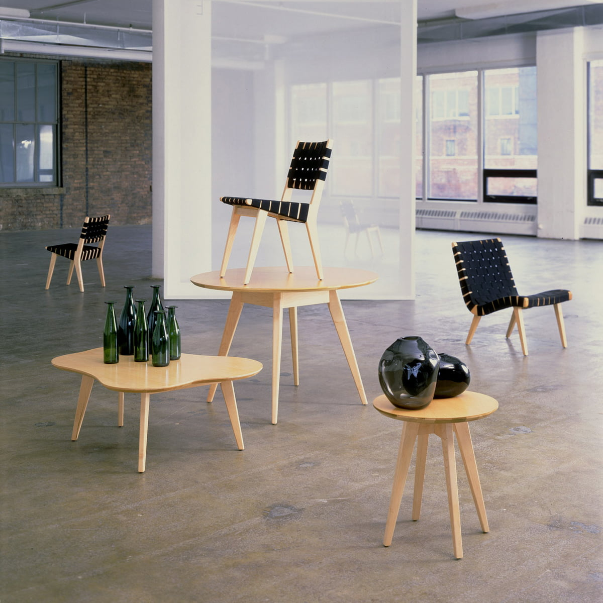 Risom lounge sessel von knoll for Sessel 40er design