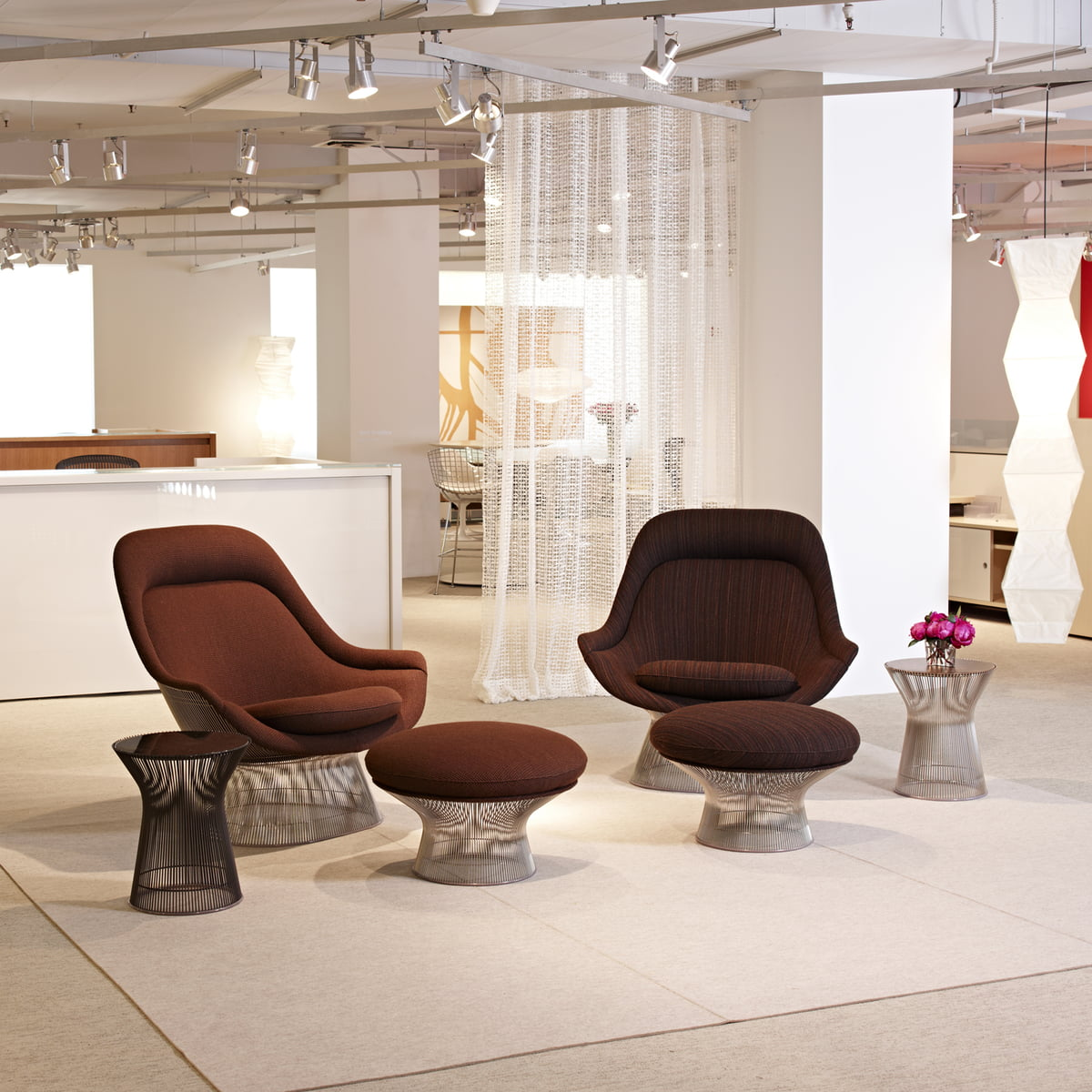 Platner Easy Chair Und Ottoman Von Knoll