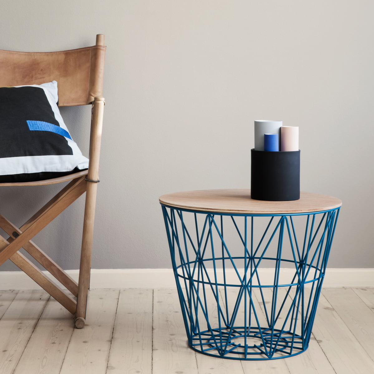 ferm living wire basket top large bei connox.ch