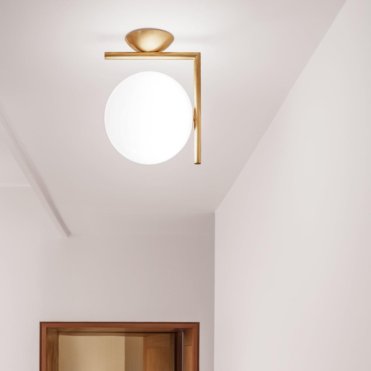 ic wand und deckenleuchte von flos bei. Black Bedroom Furniture Sets. Home Design Ideas