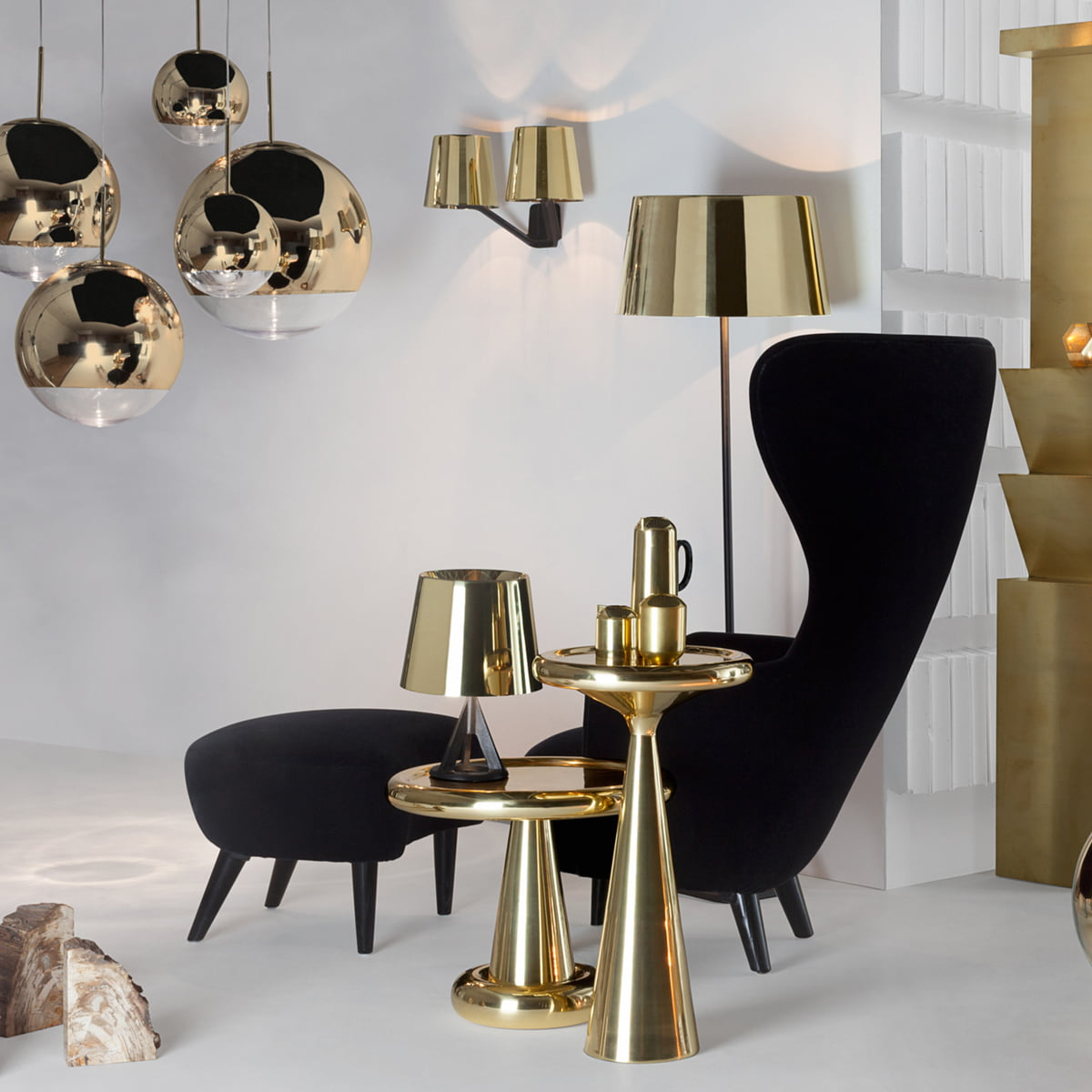 base tischleuchte von tom dixon bei. Black Bedroom Furniture Sets. Home Design Ideas