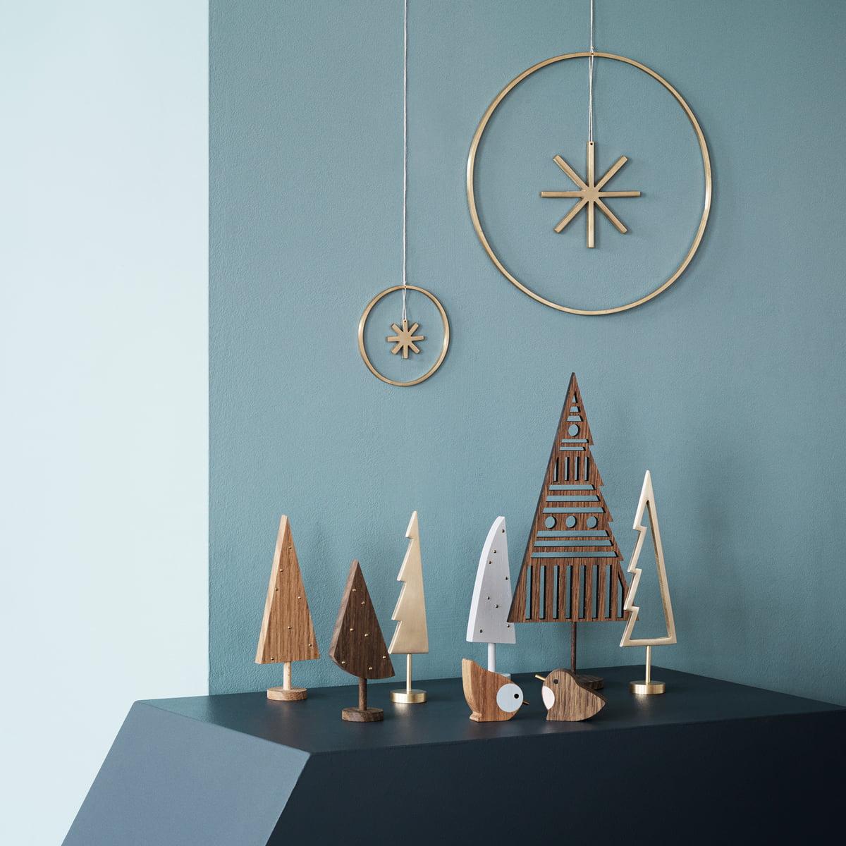 winterland baum messing von ferm living. Black Bedroom Furniture Sets. Home Design Ideas