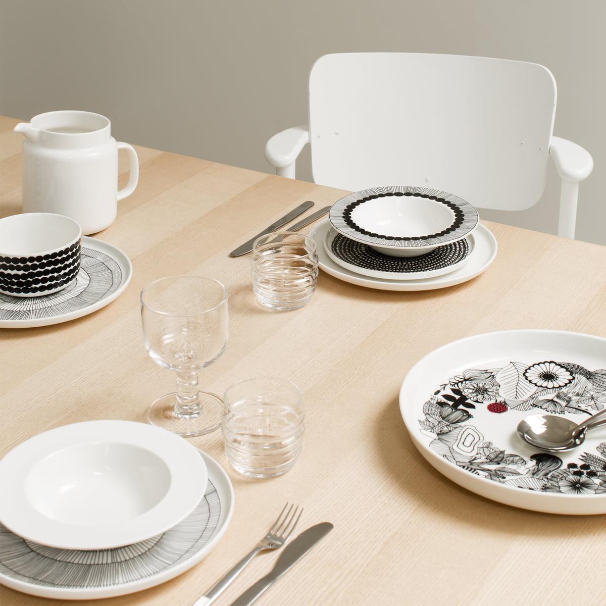oiva siirtolapuutarha teller 20 cm von marimekko. Black Bedroom Furniture Sets. Home Design Ideas