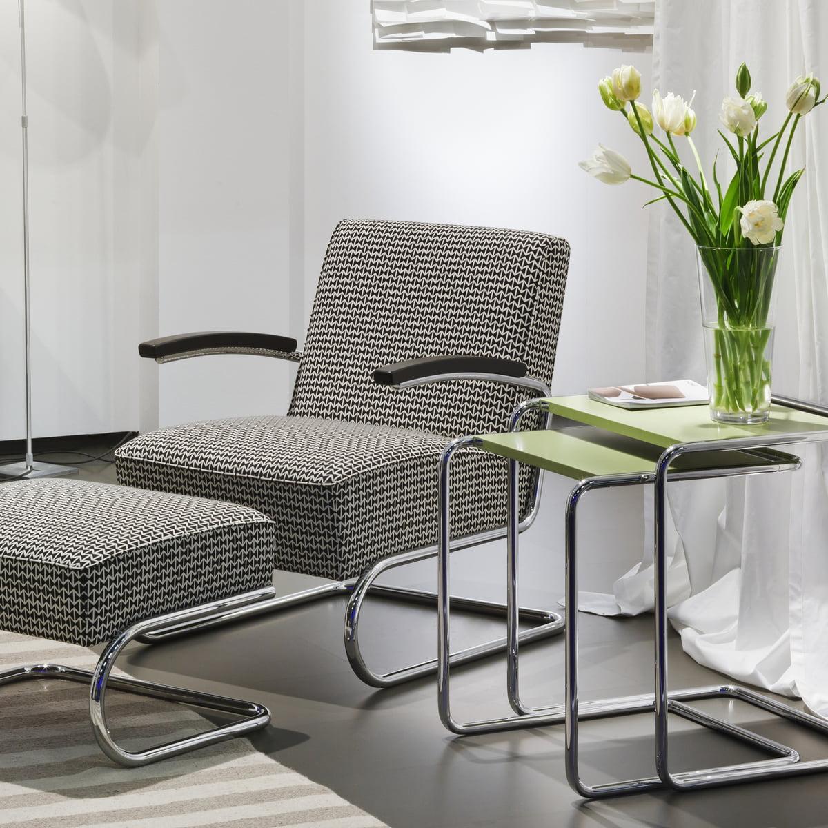 s 411 h hocker von thonet. Black Bedroom Furniture Sets. Home Design Ideas