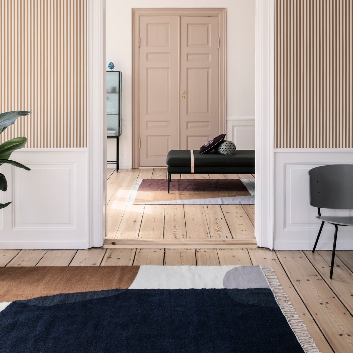 kelim rug merge von ferm living. Black Bedroom Furniture Sets. Home Design Ideas