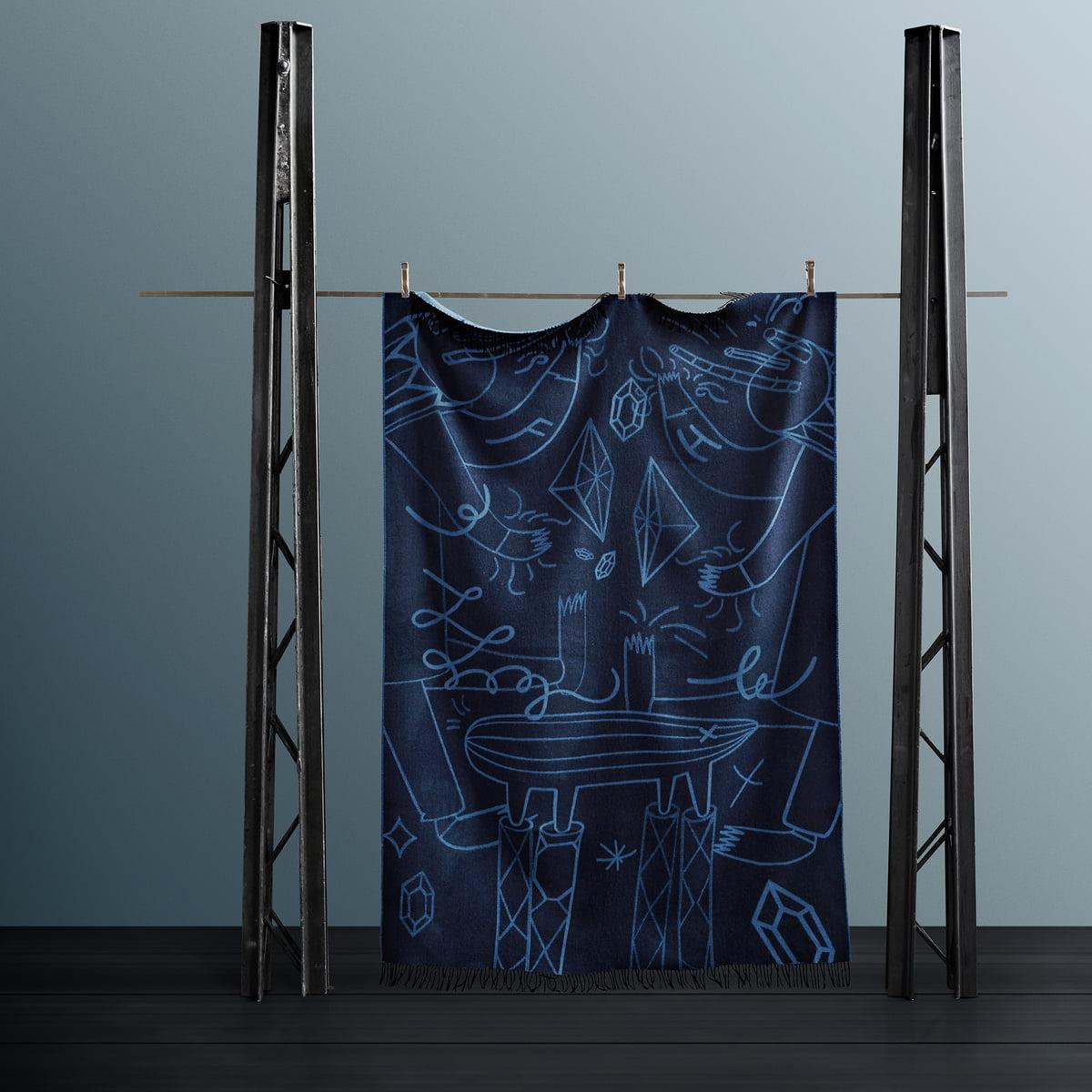 Couverture Plaid Merino couverture couverture couverture plaid 140x200 cm Milano Bleu
