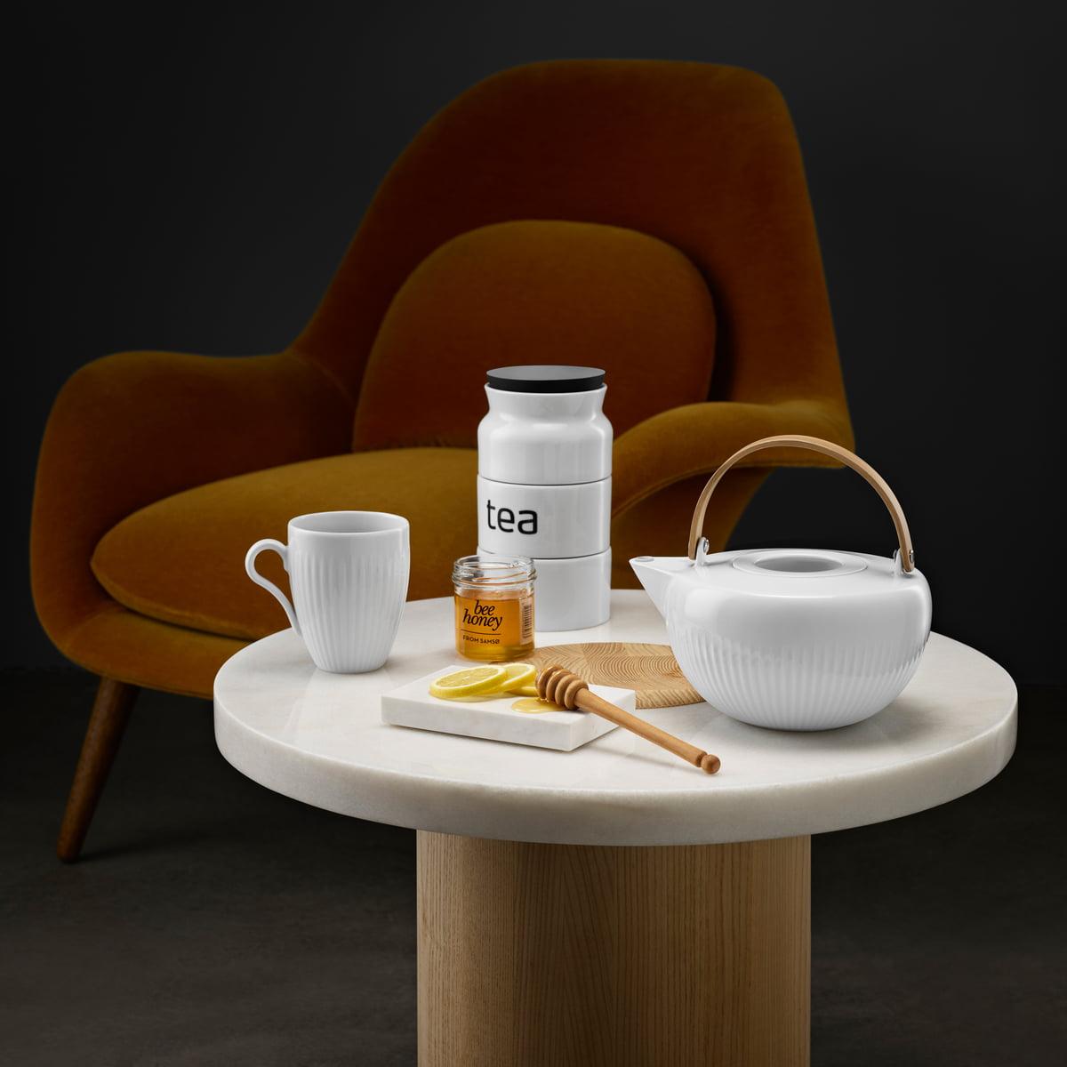 porzellan teedose tea eva solo. Black Bedroom Furniture Sets. Home Design Ideas