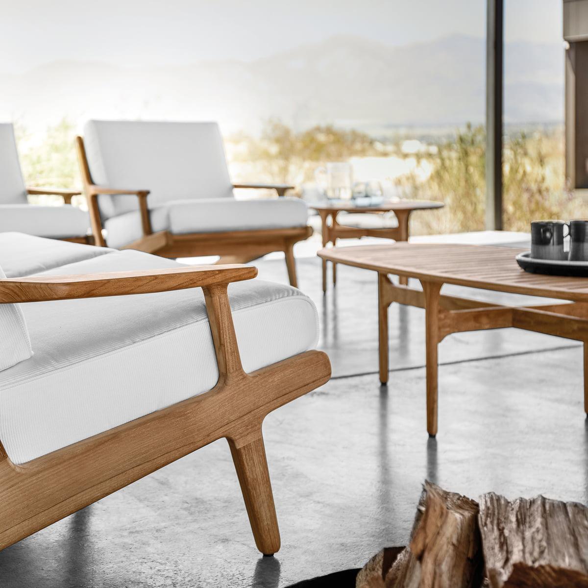 Holz Loungetisch Bay von Gloster | connox.ch