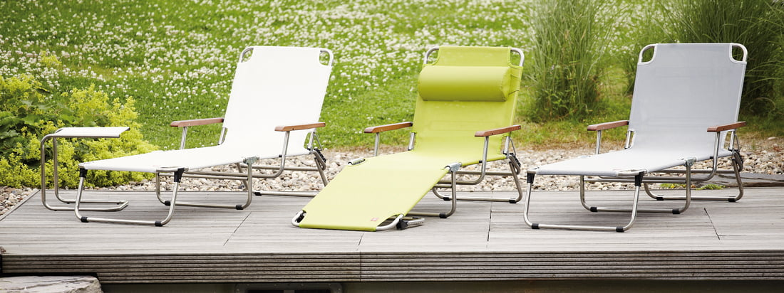 Italienisches Design von Fiam: hochwertige Gartenmöbel wie die Amigo Fourty Liege. Der Liegestuhl ist in verschiedenen Farben erhältlich und ein Hingucker für Ihren Garten.