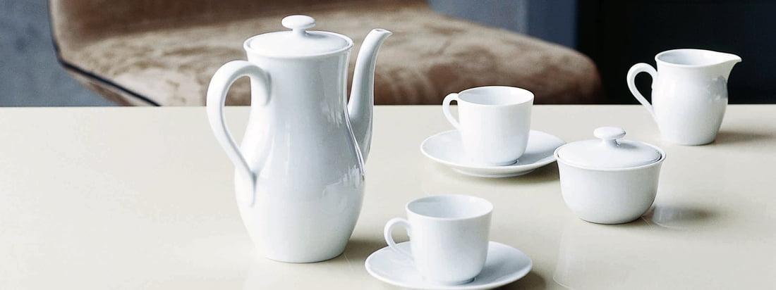 Von der Porzellanmanufaktur Fürstenberg stammen besondere, zeitlose Accessoires sowie dezentes, schönes Geschirr. Das Design stammt von Wilhelm Wagenfeld.