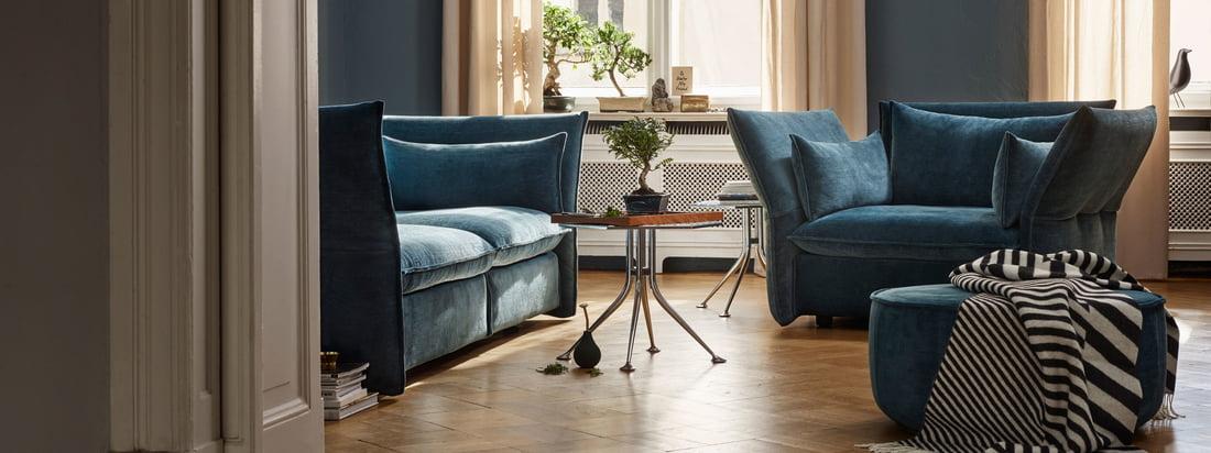 Die Mariposa Kollektion von Vitra ist je nach Farbwahl mehr oder weniger präsent im Raum