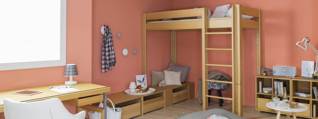 De Breuyn ist ein Familienunternehmen aus Köln. Ökologische Möbel für Kinder wie das debe.destyle Hochbett hier im Shop kaufen. Ein Bett - 5 verschiedene Höhen.