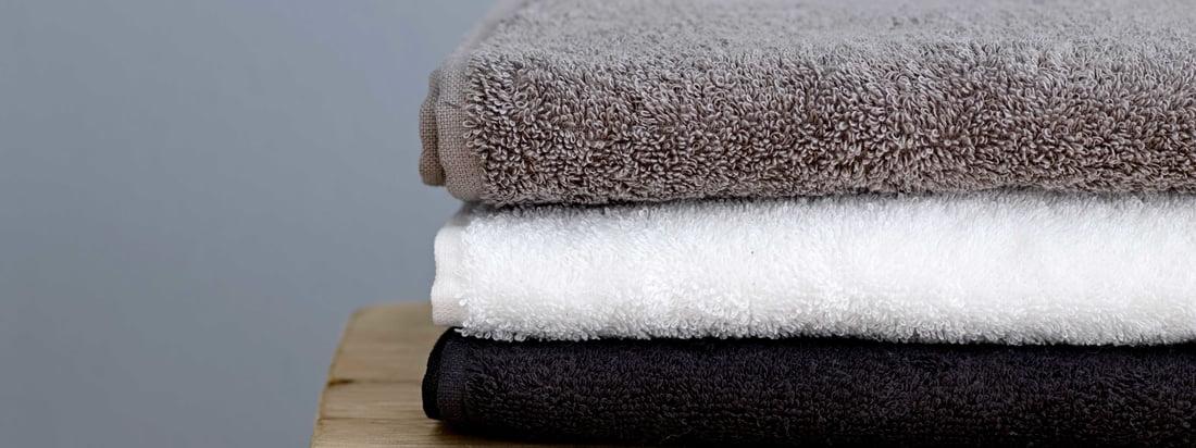 Södahl - Comfort Handtuch, schwarz, weiss und grau