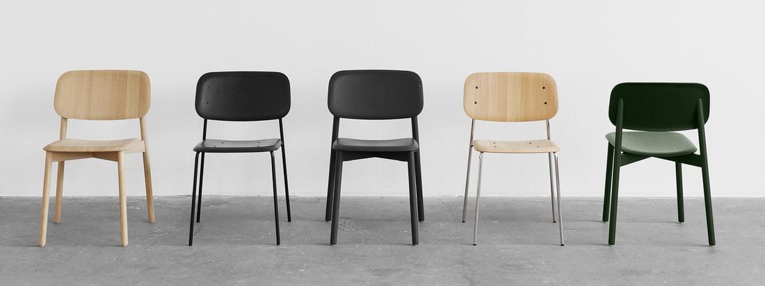 """Die weich geformten Sitz- und Rückenflächen der Soft Edge Stühle erlauben ein """"dynamisches Sitzen"""" . Alle Ecken der extrem dünne Sitzfläche wurden vom Körper weg gebogen, um den menschlichen Bewegungen angenehm entgegen zu kommen."""