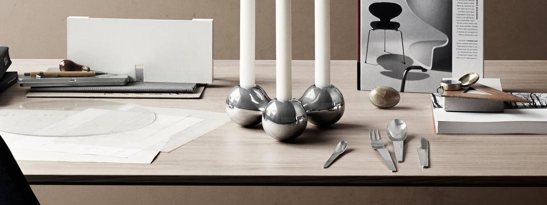 Georg Jensen - Arne Jacobsen Besteck Serie 3840x1440