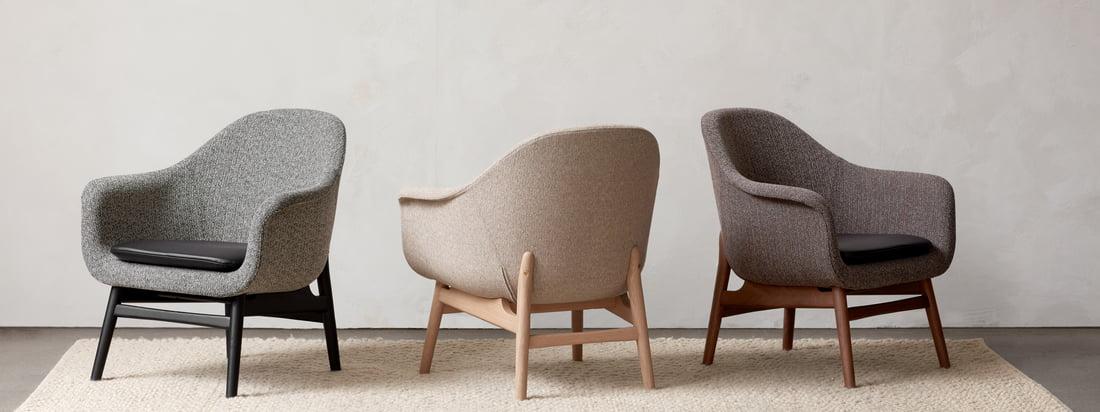 Ob zusammen oder einzeln - die Stühle der Harbour Kollektion von Menu lassen sich wunderbar kombinieren und bieten vom Esszimmer bis ins Büro die ideale Sitzgelegenheit.