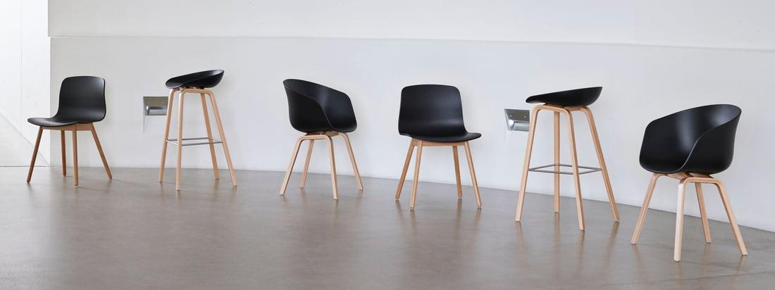 Die About A Chair Serie des dänischen Designstudios Hay zählt zu den bekanntesten und beliebtesten Sitzmöbelserien weltweit. Die About A Eco Serie von Hay geht nun einen Schritt weiter: Für die Produktion wird recyceltes Polypropylen (PP) verwendet.