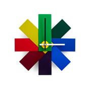 Normann Copenhagen - Watch me Wanduhr Multicolour