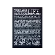 Holstee - The Original Manifesto Poster (Black)