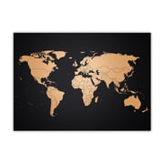 Awesome Maps - Weltkarte Kupfer