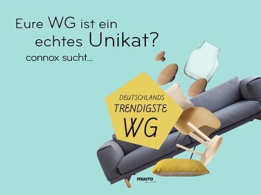 Der Wohndesign-Versand Connox sucht Deutschlands trendigste WG - Video-Contest mit öffentlichem Voting - Gewinne im Wert von mehr als 12.000 Euro! Beendet!