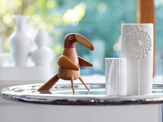 Die Pepper Bird Pfeffermühle von Spring Copenhagen ist ein absoluter Eyecatcher. Durch drehen des Vogelkopfes setzt sich das Mahlwerk in Bewegung und mahlt den Pfeffer sorgfältig.