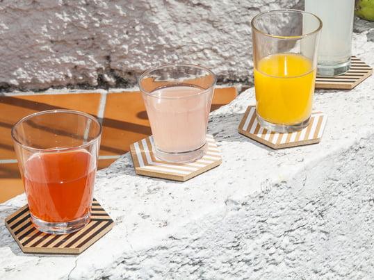 Moderne Glasuntersetzer von Areaware in 3D-Optik. Design-Untersetzer für Gläser und Tassen - geniessen Sie Ihre Drinks ohne an Verschmutzungen und Kratzer denken zu müssen.
