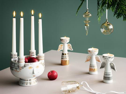 Der Kerzenständer Lucia von Bjørn Wiinblad ist ein Kerzenhalter für vier Kerzen und Schale in einem und zusätzlich eine schöne Alternative zum klassischen Adventskranz.