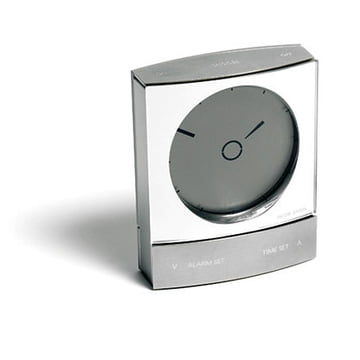 Jacob Jensen - Wake up Clock, silber