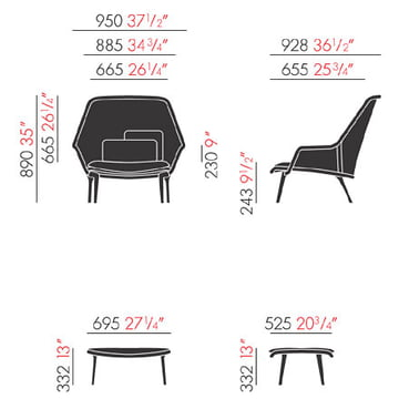 Slow Chair & Ottoman von Vitra