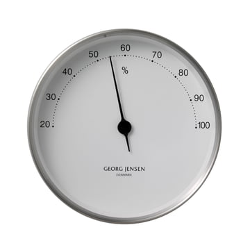 Georg Jensen Hygrometer - Stahl/weiss - ø 10cm