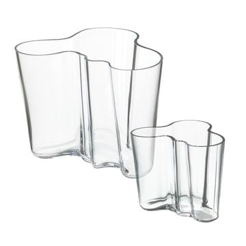 Angebot: Alvar Aalto Vasen 2er-Set - klar 160 + 95 mm