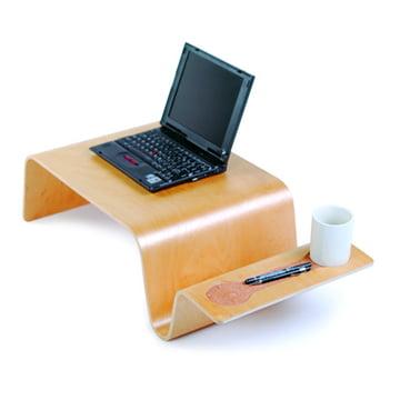 Offi - Overlap Tray, Birke mit Laptop und Tasse