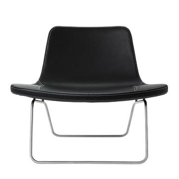 Hay Ray Lounge Chair Leder schwarz