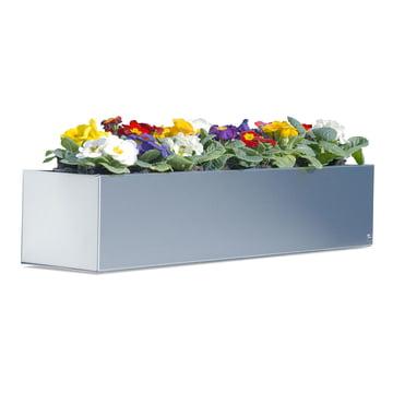 Radius-Design Blumenkasten aus Edelstahl