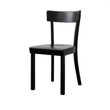 Frankfurter Stuhl von Stoelcker in Schwarz matt lackiert