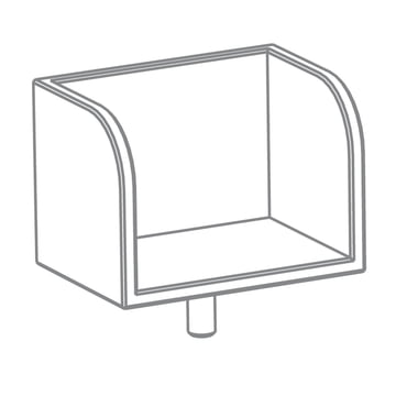 Growing Table - Bücherboard, HPL weiss